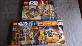 3 x lego star wars sets 75139 - 75153 - 75082 brand new and sealed