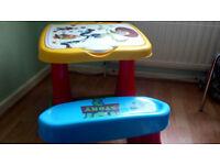 children's desk, sturdy plastic