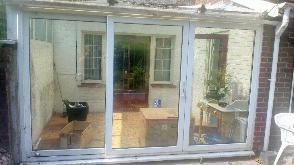 Conservatory Upvc Double Glazed Sliding Patio Doors In Brighton