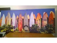 Surf picture on canvas