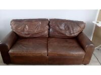 Natural Leather 3 seater sofa ( House of Fraser)