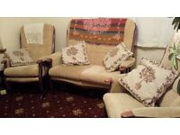 Cottage Two Seater Settee One Rocking Chair and Chair