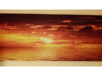 Large Sea Sunset Canvas Picture !