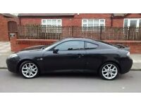Hyundai Coupe SIII, 57 Plate, Black, full leather, air con, sunroof, cruise control, ABS etc.