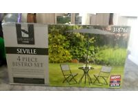 Seville 4 piece Bistro Set