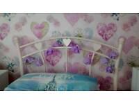 Pink Hearts Metal Single Bed