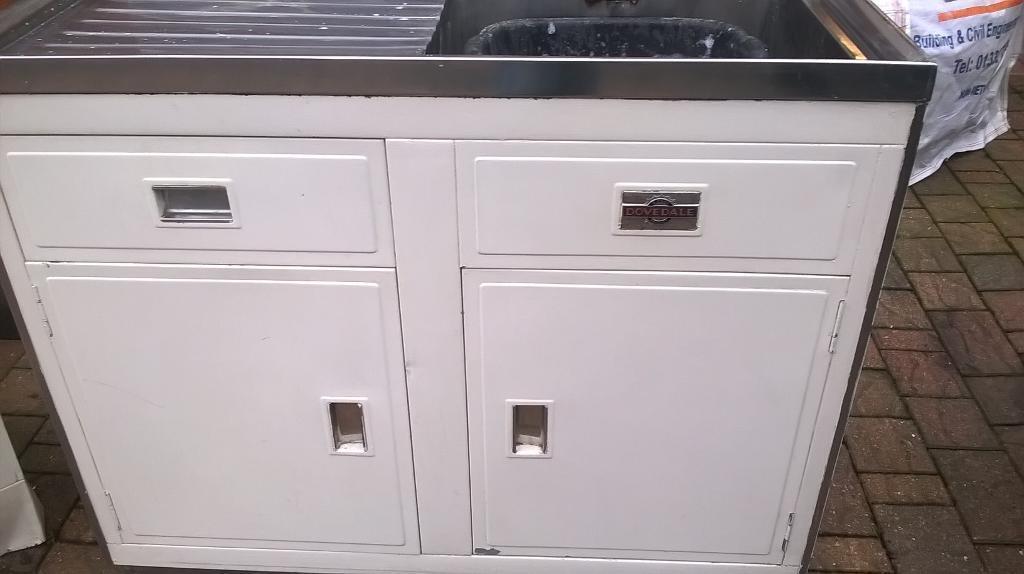 Vintage Paul Metalcraft 1950 s corner unit and sink unit
