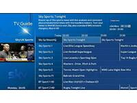 Tv sky box packages all channels