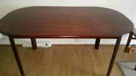 Solid wood dining table and 4 chairs - can deliver