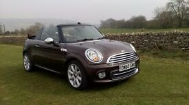 Mini Cooper convertable, chocolate brown chilli pack