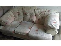 Sofa and 2 arm chairs - Free but must pick up