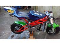 Blata replica b1 liquid cooled water cooled 39cc mini moto not pit bike