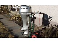 Good condition Honda 10HP outboard for sale.