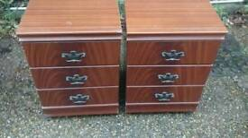 PAIR BEDSIDE CABINETS IN GOOD CONDTION