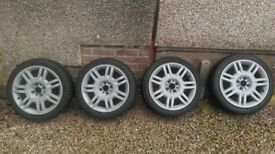 Fiat 500 wheels with snow tyres