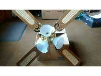 Combination ceiling paddle fan and light