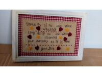 lovely inspirational tapestry picture priced to clear