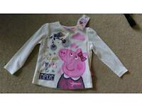 Brand new with tag Peppa Pig top