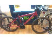 Carrera Girls full suspension mountain bike alloy frame bicycle