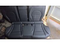MERCEDES BENZ W205 C-CLASS AMG BLACK LEATHER INTERIOR REAR SEATS ONLY