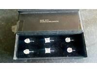 Sworovski earrings clip on 3 pairs new