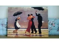 JACK VETTRIANO 'THE SINGING BUTLER' 60X80CM CANVAS