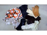 Vintage ladies gloves x 7pairs plus 2 scarves