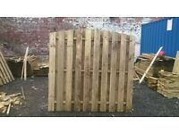 6FT X 3FT DOUBLE SIDED PALING HIT & MISS ARCHED FENCE PANEL PRESSURE TREATED TIMBER USED