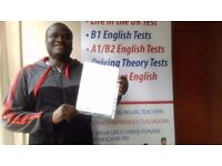 English B1 Test & English A2 Test - 99% PASS RATE + FREE RETRAINING (Mansfield)
