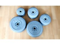 York Weight Plates for barbells and dumbbells in excellent condition