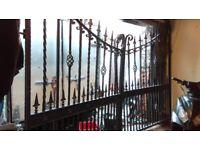 Raw iron driveways gates