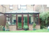 Used Conservatory for Sale - Mahogany - 3.25m x 4.25m - Buyer to dismantle - £700 ono