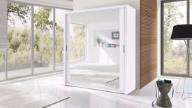 Brand New Modern Design High Quality 2 Sliding Door 203 cm Large Wardrobe