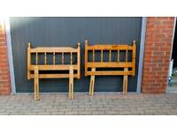 2 Pine headboards for single bed