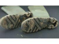 Men's steel toe cap wellies, Dunlop, size 6.