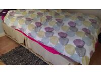 FREE double bed + valance (mattress not included)