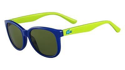 Lacoste Two Tone Wayfarer Sunglasses Model 3603S Color 424 Blue (Lacoste Wayfarer Sunglasses)