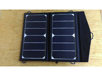 Solar Panel to charge your Phone/laptop battery while out for the day, trekking/camping/boating...