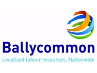 Ballycommon Services are looking for PTS operatives to work weekend shifts in Ipswich