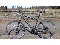 Black merida crossway bike