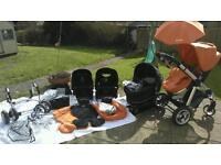Icandy apple to pear single and double pushchair/pram
