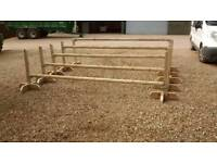 Horse jump set of 10 x wings and 5 x poles