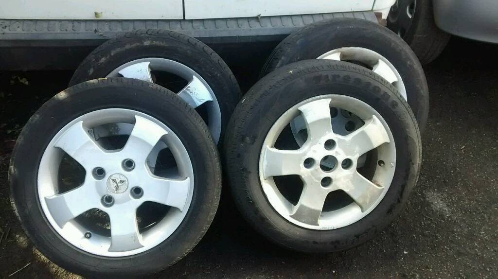 MITSUBISHI SPACE STAR 2003 ALLOYS AND TYRES