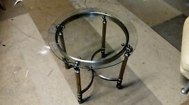 Coffee Table (Metal legs with a glass top)