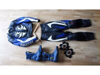 Ladies Motorcycle Leather Size 6 Jacket + Trousers + Boots Size 40