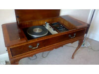 Dynatron radiogram circa 60's Lovely piece of furniture with concealed speakers.