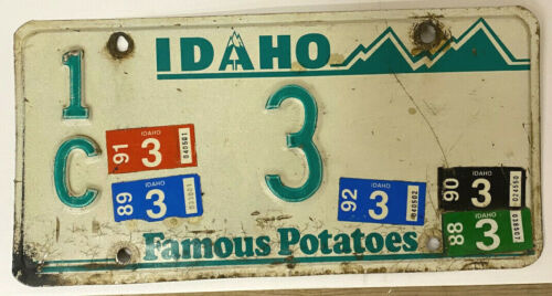 Idaho License Plate - Low Number 3 - Free Shipping