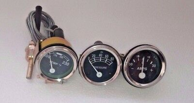 Amp Oil Temp Gauge Set For Ford Tractor 2n 8n 9n Naa 601 70 801 901 2000 4000