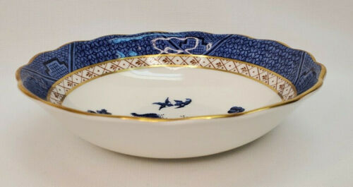 """Booths Real Old Willow Royal Doulton Coupe Cereal Bowl 6 3/8"""""""
