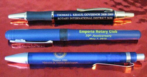 Lot of 3 Rotary International Pens